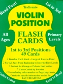 Violin Position Flash Cards 1st to 3rd Positions