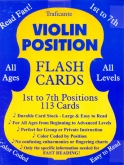 Violin Position Flash Cards 1st to 7th Positions