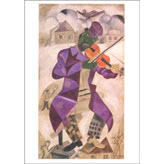 "Notecard - ""Green Violinist"" by Marc Chagall"