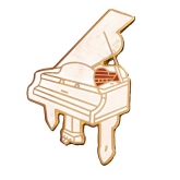Piano Pin - White