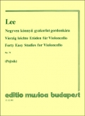 Forty Easy Studies for Cello Op.70