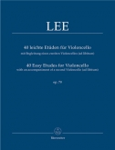 Lee - 40 Easy Etudes For Violoncello Op. 70