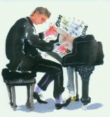 "Notecard - ""Pianist"" by Mary Woodin"