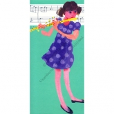 "Notecard - ""Things I Play - Flute"" by Mary Woodin"