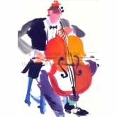 "Notecard - ""The Cellist"" by Mary Woodin"