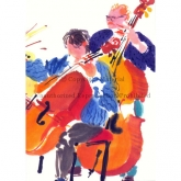 "Notecard - ""Double Bass"" by Mary Woodin"