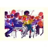 "Notecard - ""First Violins"" by Mary Woodin"