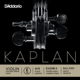 Kaplan Golden Spiral Solo Violin E String, Ball - heavy - 4/4