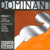 Dominant Violin Silver D String - medium - 4/4 - Straight
