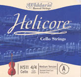 Helicore Cello G String - medium (Straight) - 4/4
