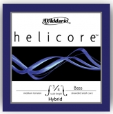 Helicore Hybrid Bass D String - medium (Straight) - 3/4