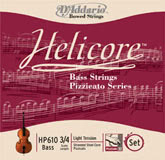 Helicore Pizzicato Bass D String - medium (Straight) - 3/4