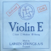 Larsen Violin Gold E String, Ball - strong - 4/4