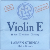 Larsen Violin Gold E String, Loop - soft - 4/4