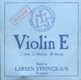 Larsen Violin Steel E String, Ball - strong - 4/4