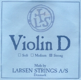 Larsen Violin Aluminum D String - strong - 4/4