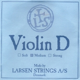 Larsen Violin Aluminum D String - medium - 4/4