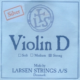 Larsen Violin Silver D String - strong - 4/4
