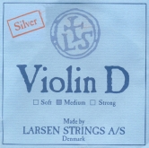 Larsen Violin Silver D String - medium - 4/4