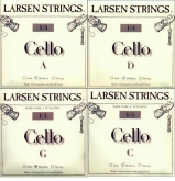 Larsen Fractional Cello Set (C and G Wire Core) - medium - 1/4