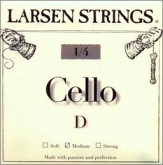 Larsen Fractional Cello D String - medium - 1/4