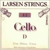 Larsen Fractional Cello D String - medium - 1/2
