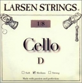 Larsen Fractional Cello D String - medium - 1/8