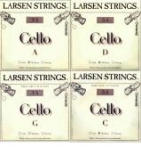 Larsen Fractional Cello Set (C and G Wire Core) - medium - 3/4
