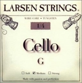 Larsen Fractional Wire Core Cello G String - medium - 1/4
