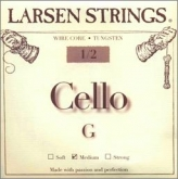 Larsen Fractional Wire Core Cello G String - medium - 1/2