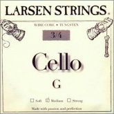 Larsen Fractional Wire Core Cello G String - medium - 3/4