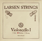 Larsen Fractional Wire Core Cello Silver G String - medium - 1/2