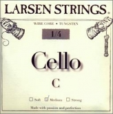 Larsen Fractional Wire Core Cello C String - medium - 1/4