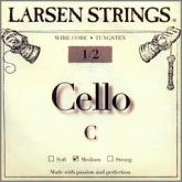 Larsen Fractional Wire Core Cello C String - medium - 1/2