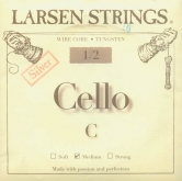 Larsen Fractional Wire Core Cello Silver C String - medium - 1/2