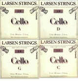 Larsen Fractional Cello Set (C and G Wire Core) - medium - 1/8