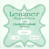 Goldbrokat Violin Steel E String, Ball 26 - medium - 4/4