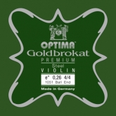 Goldbrokat Premium Steel Violin String - E 26 - 4/4 - Ball