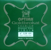 Goldbrokat Premium Brassed Steel Violin String - E26 -4/4- Loop