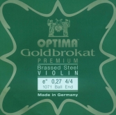 Goldbrokat Premium Brassed Steel Violin String - E27- 4/4 - Ball