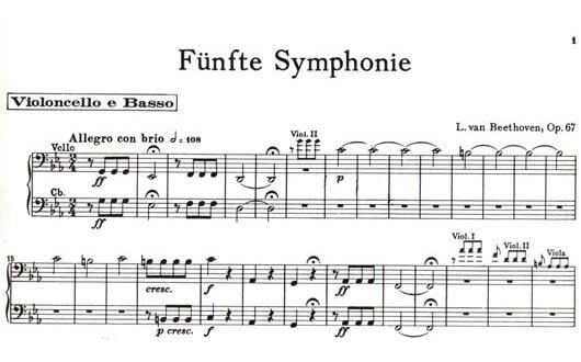 Symphony No.5 in C- Op.67, Cello Part