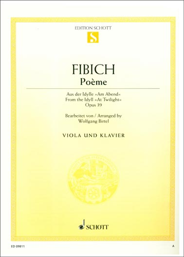 Fibich Poème From The Idyll Op 39