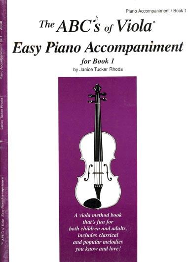The ABC's of Viola Easy Piano Accompaniment, Viola Book 1