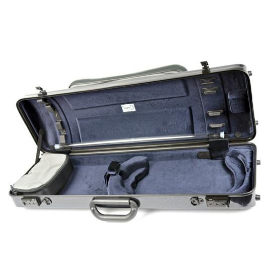 bam hightech oblong violin case carbon look with pocket. Black Bedroom Furniture Sets. Home Design Ideas