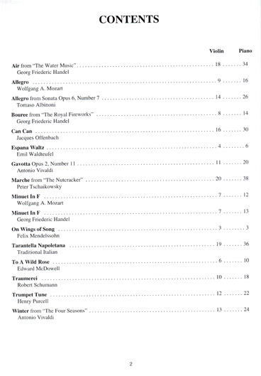 Solo Pieces for the Intermediate Violinist - Piano part
