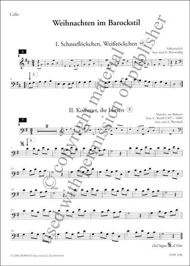Weihnachtsessen Celle.Weihnachten Im Barockstil For Cello